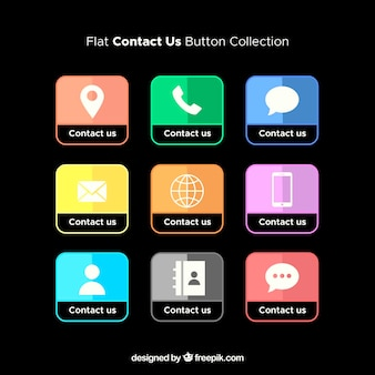 Contact us buttons collection