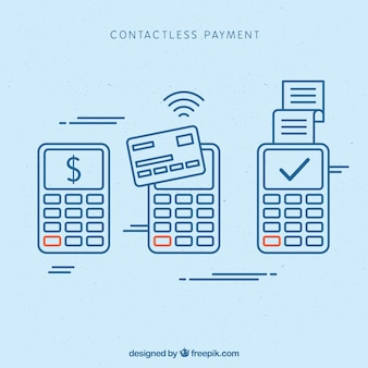 Contactless concept with modern style