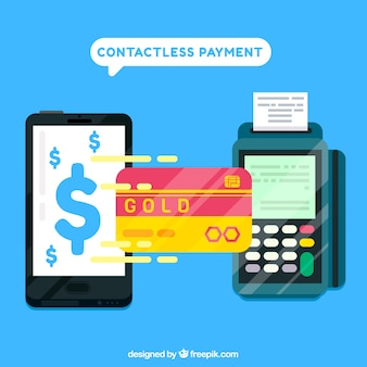 Contactless payment backgorund