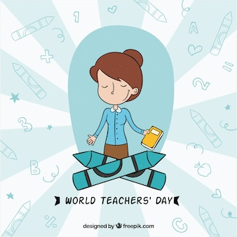 Content teacher on a world teacher's day