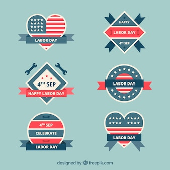 Cool collection of labor day's badges
