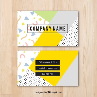 Cool colorful business card template