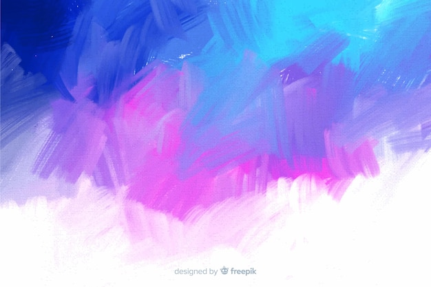 Cool colors abstract hand painted background