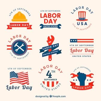 Cool labels for labor day