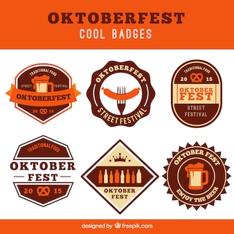 Cool oktoberfest badges