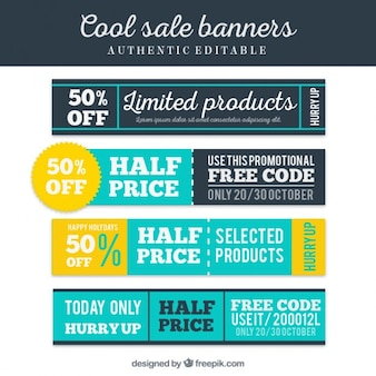 Cool sale banners
