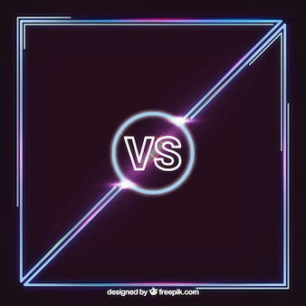 Cool versus background with neon lights