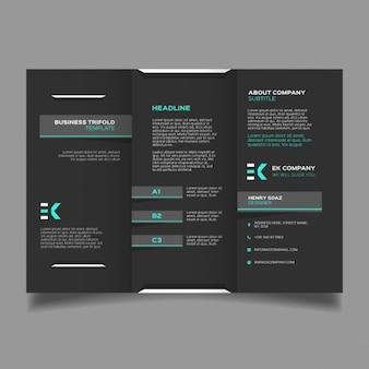 Corporate black geometric brochure template