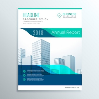 Corporate blue brochure