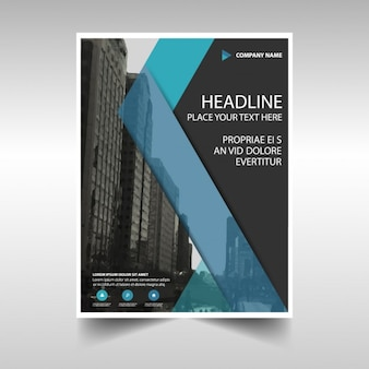 Corporate brochure, blue and black color