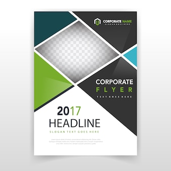 Corporate brochure cover template