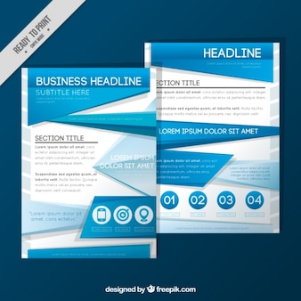 Corporate brochure in abstract style