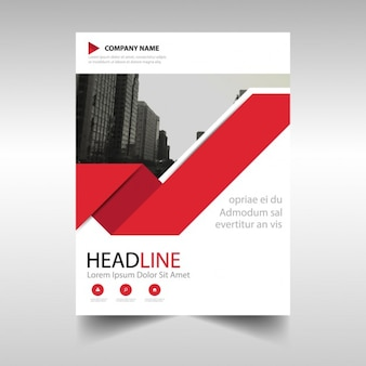 Corporate brochure with a red ribbon