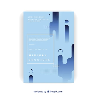 Corporate brochure with shapes in flat design