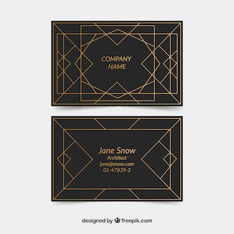 Corporate card in art deco style