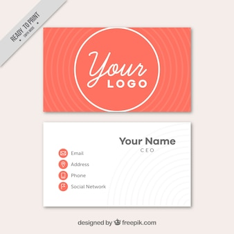 Corporate card with circular shapes