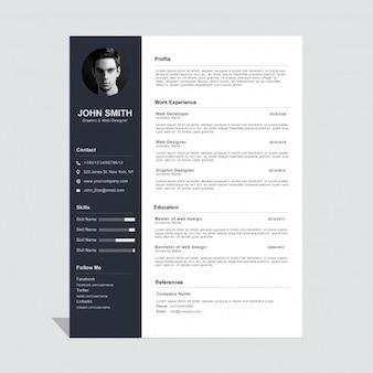 modern resume style