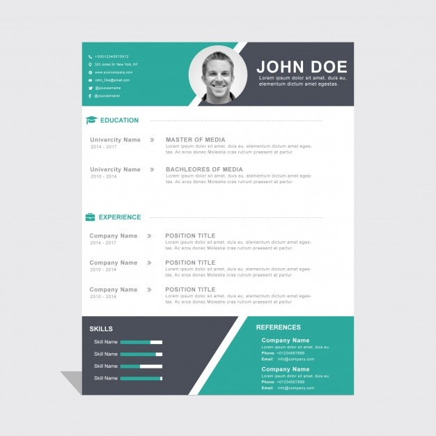 Download Free Microsoft Office DOCX Resume And CV Templates Professional Resume  Template CV Template For Word