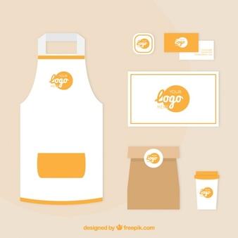 Corporate elements orange