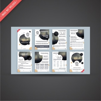 Corporate flyer templates with dark circles