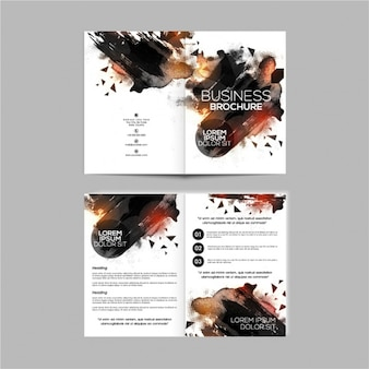 Corporate flyer with abstract shapes