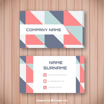 Corporate geometric card with light tones