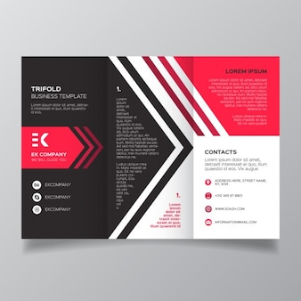 Corporate geometric modern brochure template