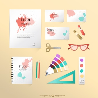 Corporate identity designer mock-up