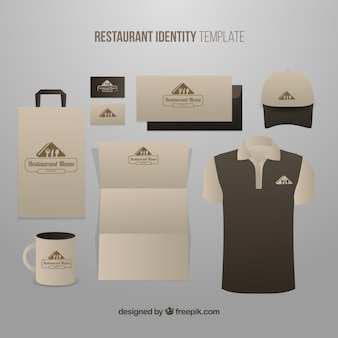 Corporate identity for an organic restaurant