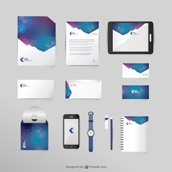 Corporate identity mock-up in space colors