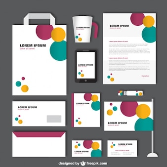 Corporate identity with colorful circles