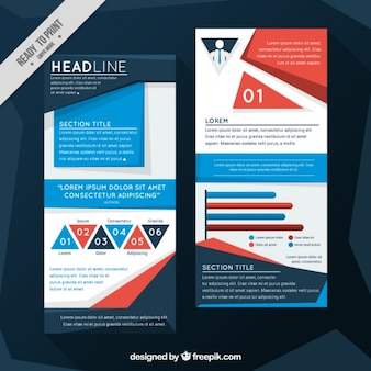 Corporate infographic brochure in abstract style
