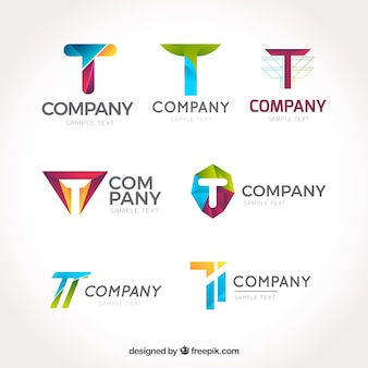 Corporate logos collection of letter  t