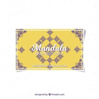 Corporate mandala yellow card