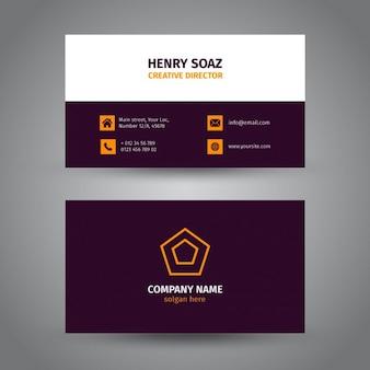 Corporate purple business card