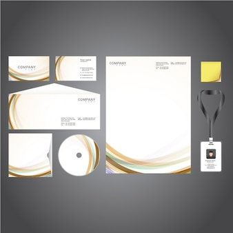 Corporate stationery presentation