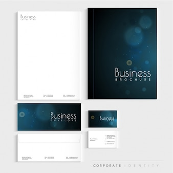 Corporate stationery with bokeh effect