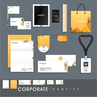 Corporate stationery with geometric style