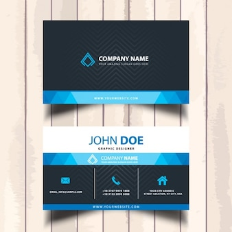 Corporate visit card in blue tone
