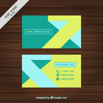 Corporative card with lines and abstract shapes