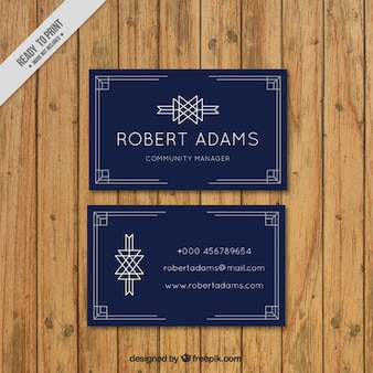 Corproative card with art deco elements