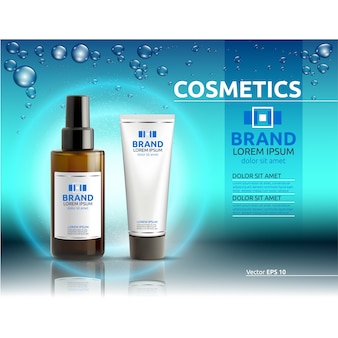 Cosmetic advertisement template