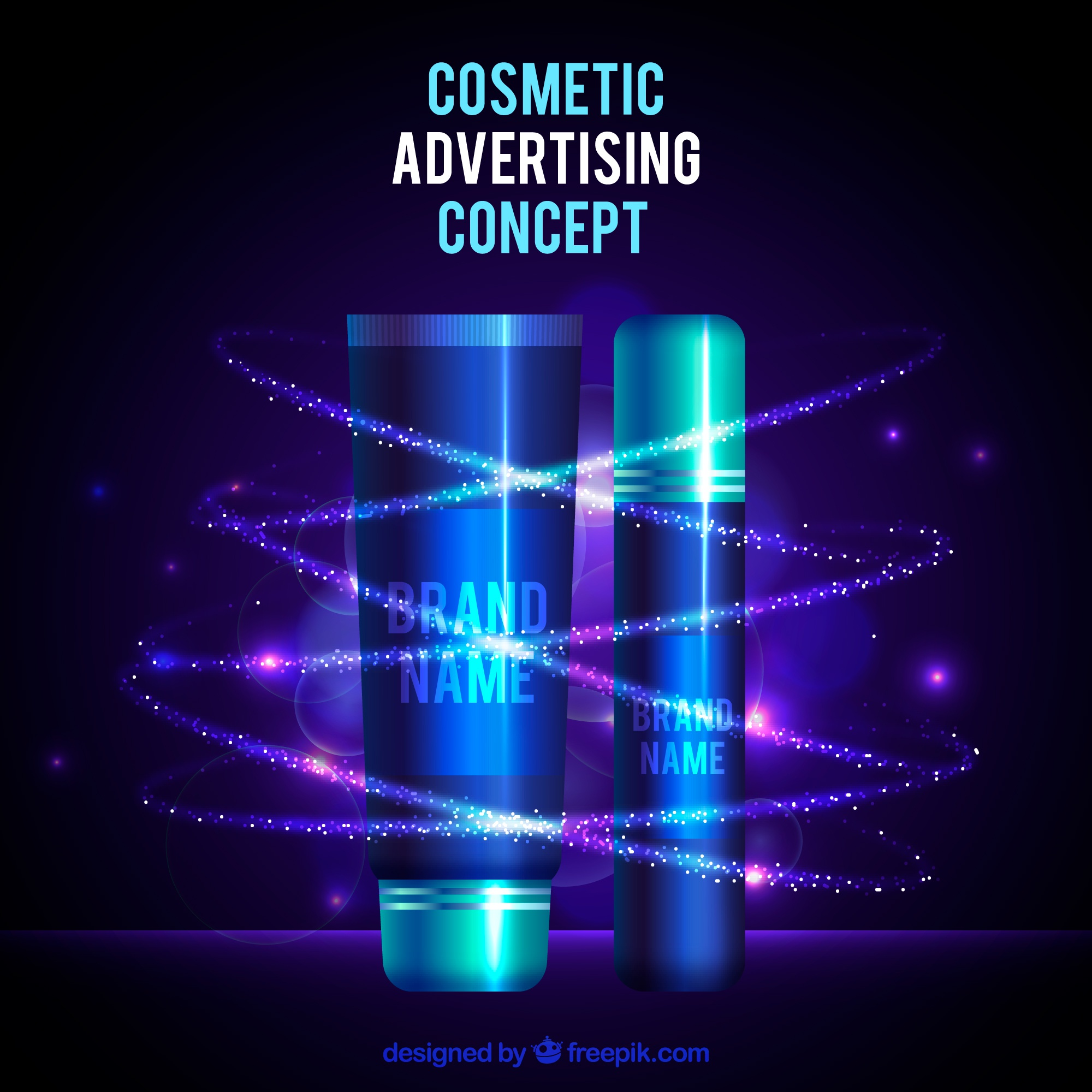Cosmetic advertising concept