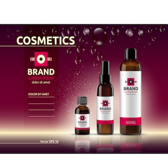 Cosmetic packaging template