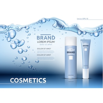 Cosmetick packaging template