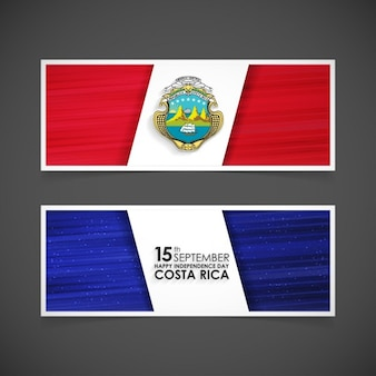Costa rica independence day poster