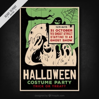 Costume party poster for halloween