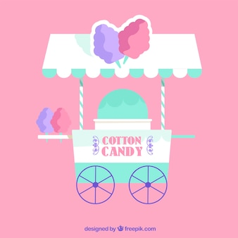 Cotton candy cart for children
