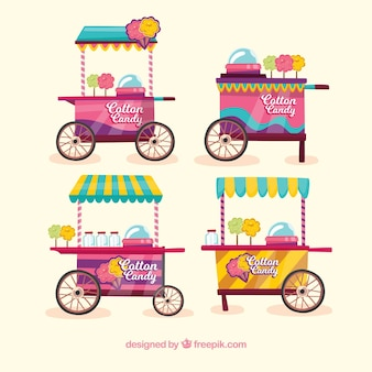 Cotton candy carts collection