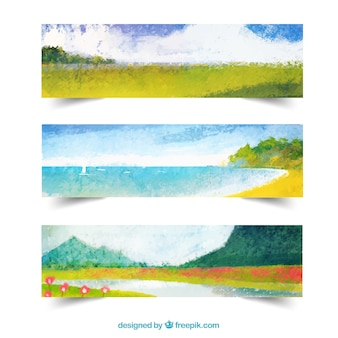 Countryside landscape banners